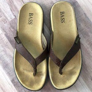 Bass Leather Sandals Flip Flop Abra